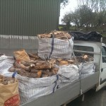 Our truck loaded up with logs and firewood for a customer